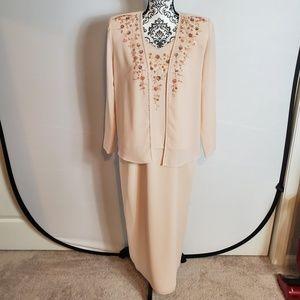 R&M Richards Blush 2pc Formal Dress/Jacket Size 8P